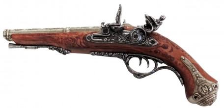 Photo Decorative replica Denix of French pistol with 2 barrels 1806