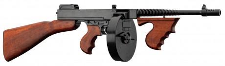 Photo Denix decorative replica of the Thomson M1928 submachine gun - Camembert loader