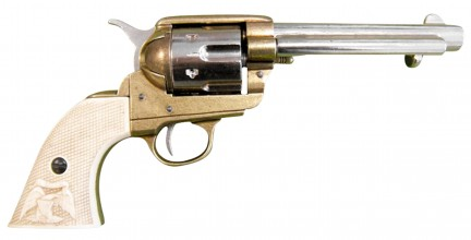 Photo Decorative replica Denix of Revolver Peacemaker 1873