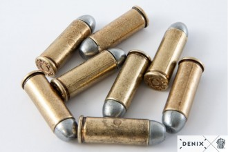 Photo Répliques factices balles de pistolet .45 USA 1880
