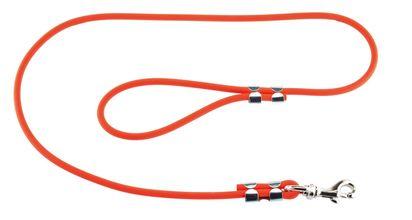 Photo Laisse 1,20 m Biothane tubulaire orange pour chien - Helen Baud