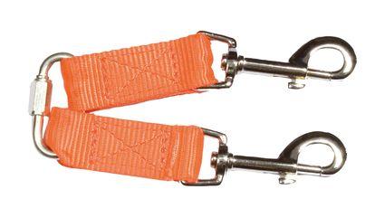 Photo Neon orange nylon coupling for small dogs