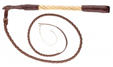 Photo Luxury hunting whip with twisted willow handle - Country
