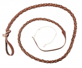 Photo Luxury braided leather float for whip - Country