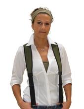 Photo Green neoprene suspenders for trousers - Niggeloh