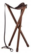 Photo Wood folding tripod seat - Luxe