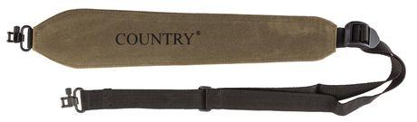 Photo Rigid suede carbine shoulder strap, quick coupler