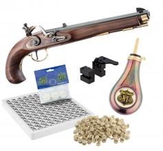 Photo Pack Pistolet Kentucky à silex cal .45 + Accessoires