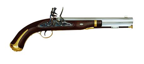 Photo Pistolet Harper's Ferry (1805-1808) à silex cal. .58