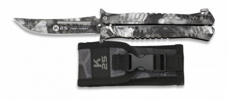 Photo Couteau papillon K25 Camo Kryptek Typhon