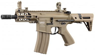 Photo Réplique AEG LT-34 Proline GEN2 Enforcer Battle Hawk PDW 4' tan