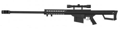 Photo Réplique Sniper LT-20 à ressort M82 noir 1,5J + lunette 4x40