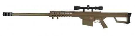 Photo Réplique Sniper LT-20 à ressort M82 tan 1,5J + lunette 4x40
