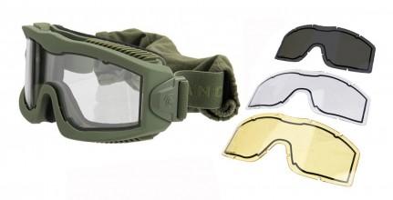 Photo Airsoft Mask AERO Series Thermal OD 3 lenses