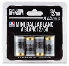 Photo 4 cartouches Mini Ballablanc cal. 12/50 à blanc