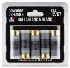 Photo 5 cartouches Ballablanc cal. 12/67 à blanc
