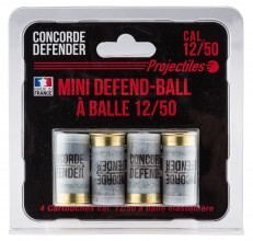 Photo 4 cartouches Mini Defend-Ball cal. 12/50 à balle Elastomere Bior