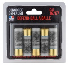 Photo 5 cartouches Defend-Ball cal. 16/67 à balle Elastomere Bior