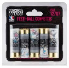 Photo 5 cartouches Festi-Ball cal. 12/67 confettis