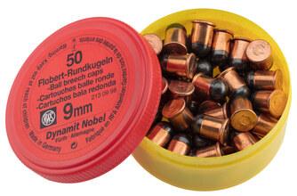 Photo Box of 50 cartridges 9 mm Flobert round bullet
