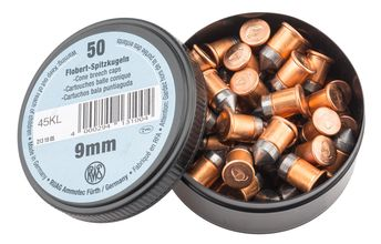 Photo Box of 50 cartridges 9 mm Flobert with bullet