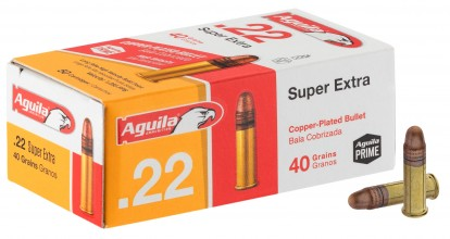 Photo Cartouches 22 LR Aguila Super Extra - balle pleine cuivrée