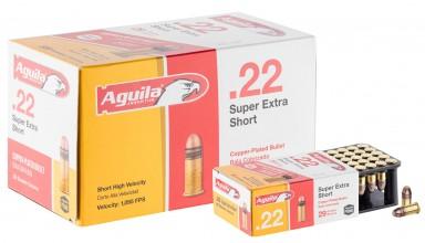 Photo Munition .22 Courte balle pleine cuivrée - Aguila