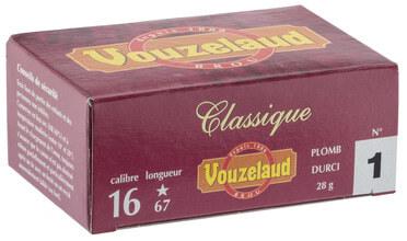 Photo Cartouches Vouzelaud - Classique grand culot - Cal. 16/67
