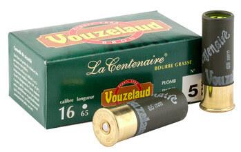 Photo Cartouches Vouzelaud - La Centenaire tube plastique - Cal. 16/65