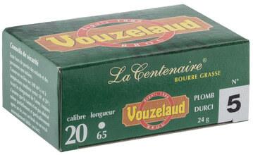 Photo Cartouches Vouzelaud - La Centenaire tube plastique - Cal. 20/65