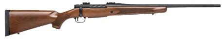 Photo Repeating Mossberg Rifles Patriot Walnut Lacrosse Wood - Unthreaded Barrel