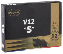 Photo Cartouches Prevot à balle V12 ''S''  demi-blindée - Cal. 12/70