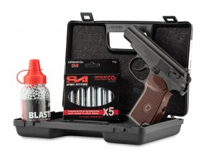 Photo Pack Airgun Borner PM-X Cal .177 3,0J + hardcase + 4,5 steel bbs + Co2