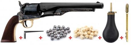 Photo Pack Revolver Colt Army 1860 calibre .44