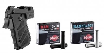 Photo Pack Pistolet lacrymogène UDAR M2 cal.13X50 +5 MUN. PEPPER+5 MUN. TRAINING