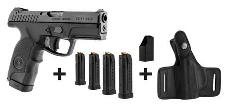 Photo Pack pistolet semi-auto Steyr Mannlicher M9-A1 + 4 chargeurs + chargette + holster