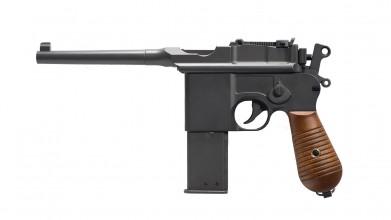 Photo Réplique pistolet GNB à gaz C96 noir full metal 1,3J
