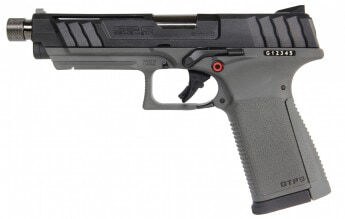 Photo GBB gaz pistol GTP9 0,9J Black and Gray