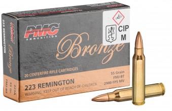 Photo Munitions calibre 223 Rem PMC - Boite de 20