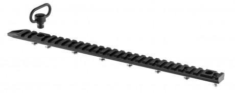 Photo Rail M-LOK Aluminium 13 slots + attache sangle QD