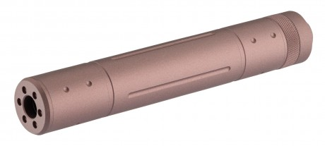 Photo Silencieux aluminium 155mm 14mm CCW FDE