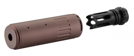 Photo AAC Style QD Silencer + Flash hider FDE
