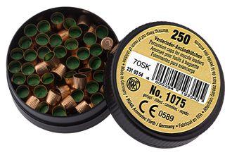 Photo Boîte de 250 amorces cannelées type 1075 poudre noire