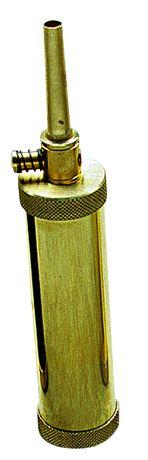 Photo Poire à poudre tubulaire luxe avec valve calibre .44