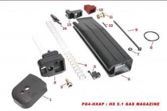 Photo Original spare parts for HX series Gas magazine