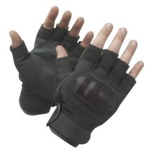Photo Black shell mittens