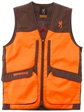 Photo Gilet Browning Upland Hunter HI-VIS ambidextre marron/orange