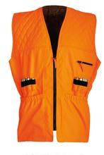 Photo Neon orange quilted tracking vest