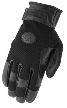 Photo Black gloves in reinforced leather