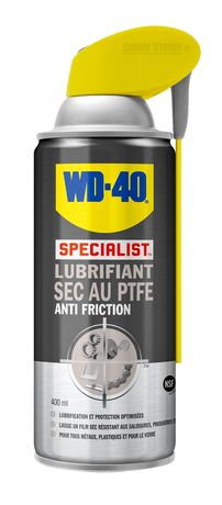 Photo WD40 in dry lubricant spray with PTFE